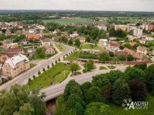 letecké snímky české republiky Lázně Bohdaneč
