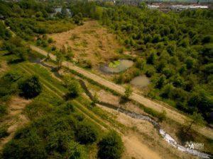 Sprava vodních toků práce s dronem