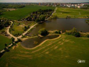 letecké práce dron vodní toky Praha