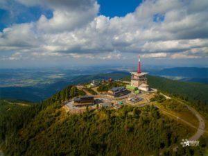 Lysa Hora natáčení dronem